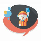pic of referee  - Soccer Referee Flat Icon With Long Shadow - JPG