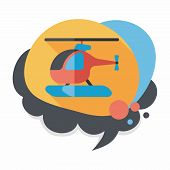 foto of rescue helicopter  - Transportation Helicopter Flat Icon With Long Shadow - JPG