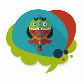 picture of long-fish  - Chinese New Year Flat Icon With Long Shadow - JPG