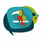 picture of parrots  - Pet Parrot Flat Icon With Long Shadow - JPG