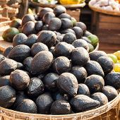 picture of avocado tree  - Organic avocado for sale at outdoor asian marketplace - JPG