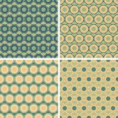 image of octagon  - seamless colored octagon pattern set in differnet colors - JPG