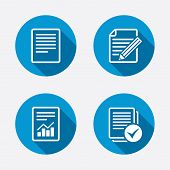 stock photo of graph  - File document icons - JPG