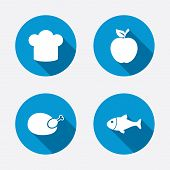 picture of fish icon  - Food icons - JPG