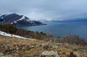 stock photo of armenia  - Winter landscape of Sevan  - JPG