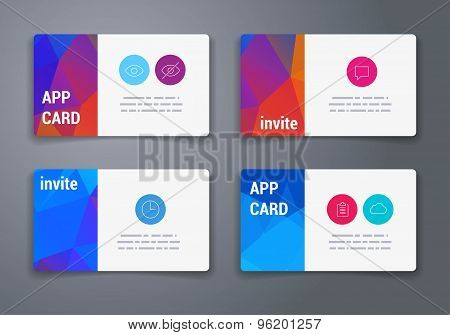 Template. Abstract Geometric Vector Template Layout Design for Flyer, Placard, Brochure or Booklet.