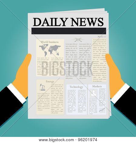 hands, nespaper, news, vector