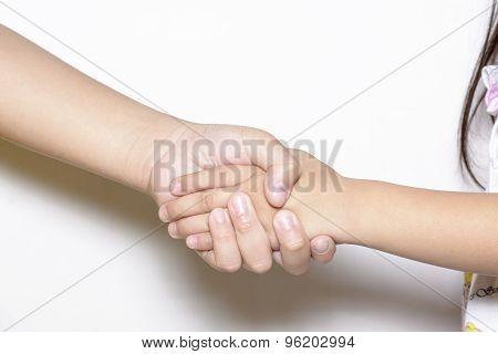 Shake hands or grasp hands