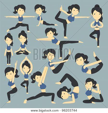 Yoga Poses Infographic Elements