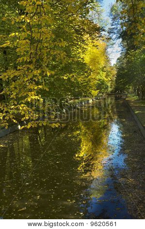 Reflection In The Autumn Channel