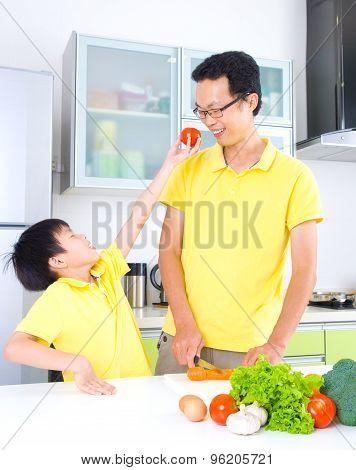 Asian Family Kitchen Lifestyle