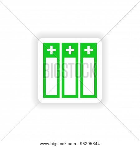 icon sticker realistic design on paper medical records