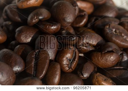 Coffee Beans Under Strong Directional Light