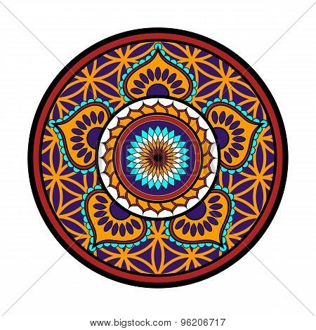 Lotus flower ornament