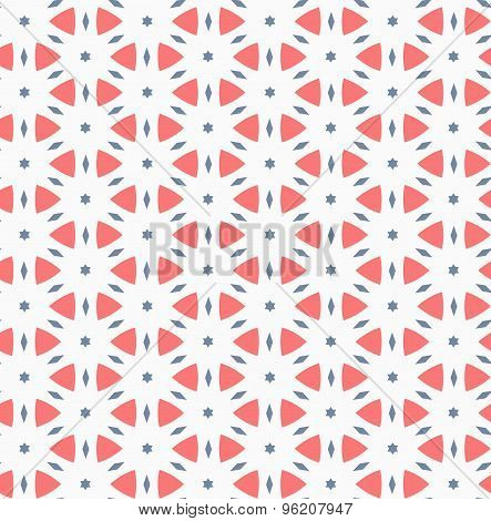 Vector seamless pattern. Modern stylish texture. Repeating geometric tiles. Composition from triangl