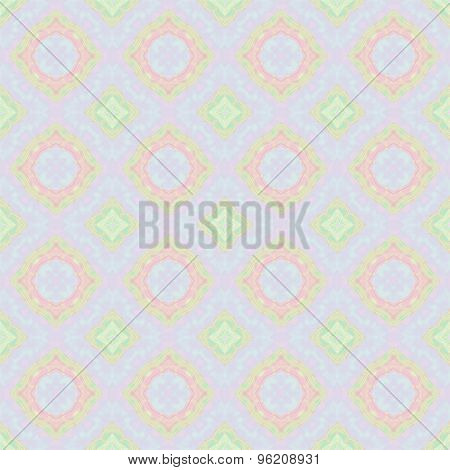 Abstract Smooth Pinky Background With Floral Pattern Made Seamless