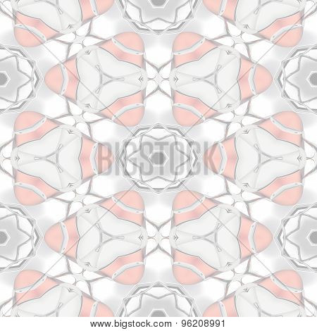 Abstract Soft Transparent Red Chrome Geometric Pattern Made Seamless