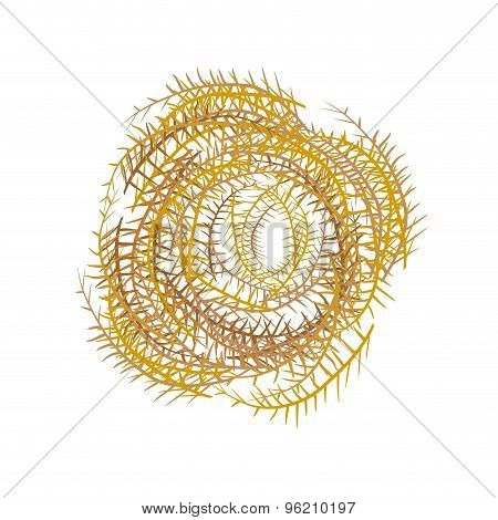 Tumbleweeds On A White Background. Herbaceous Plant In Steppe And Desert. Vector Illustration