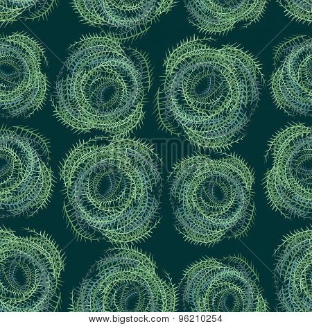 Seamless Background From Tumbleweed. Vector Abstract Background
