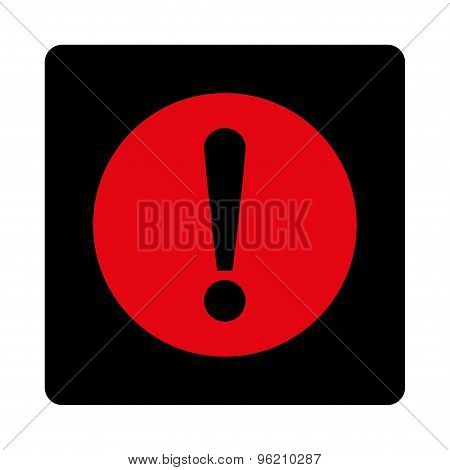 Problem flat intensive red and black colors rounded button