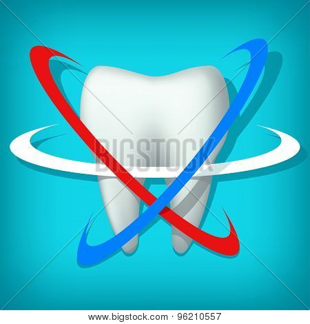 tooth on blue