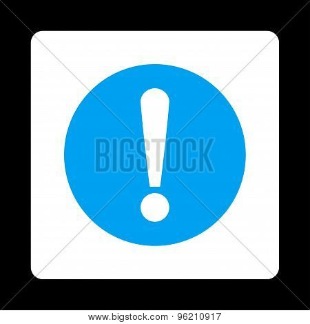 Problem flat blue and white colors rounded button