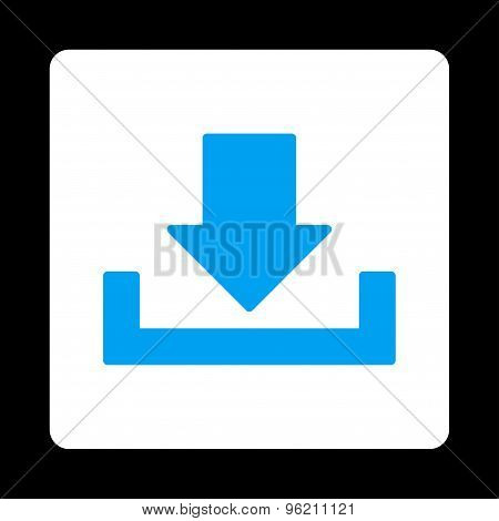 Download flat blue and white colors rounded button