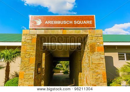 Arebbusch Square In Windhoek, Namibia.