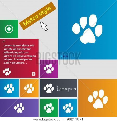 Trace Dogs Icon Sign. Buttons. Modern Interface Website Buttons With Cursor Pointer. Vector