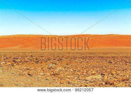 Desert Landscape Near Sesriem In Namibia.