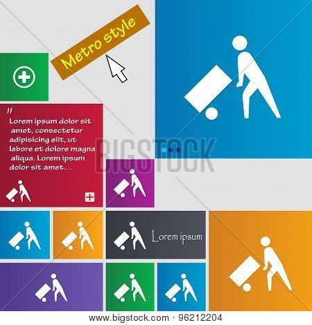 Loader Icon Sign. Buttons. Modern Interface Website Buttons With Cursor Pointer. Vector