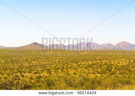 Landscape Near Windhoek In South Africa