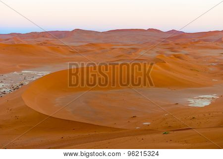 Sand Dune In The Namibian Desert Near Sossusvlei