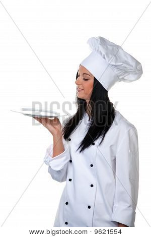 Young Woman As A Trainee Chef From Taste