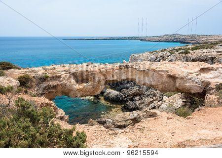 Stone Arch On Cape Greko, Ayia Napa, Cyprus