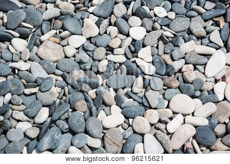 White And Grey Rounded Stones Background