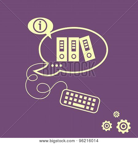 Binders Vector Icon And Keyboard Design Elements