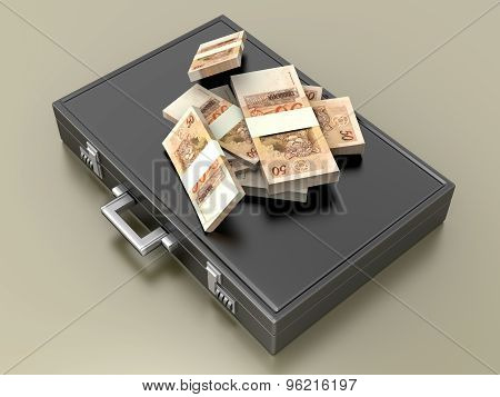 Briefcase With Cash.