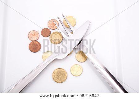 Eating Euros.