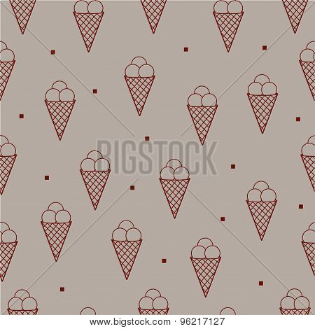 Icecreamm seamless pattern