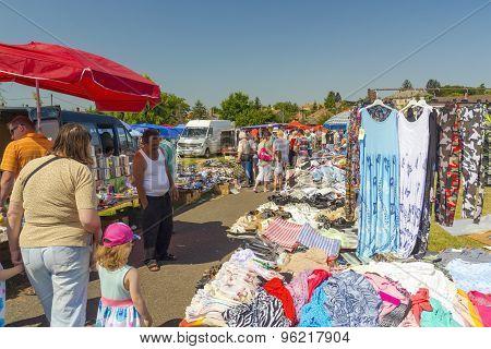 Marketplace In Dombovar
