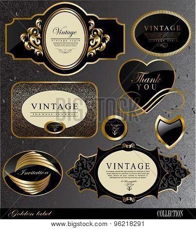 black gold labels