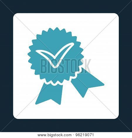 Validation seal icon from Award Buttons OverColor Set