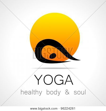 Yoga logo - design template. Health Care, Beauty, Spa, Relax, Meditation, Nirvana concept icon.