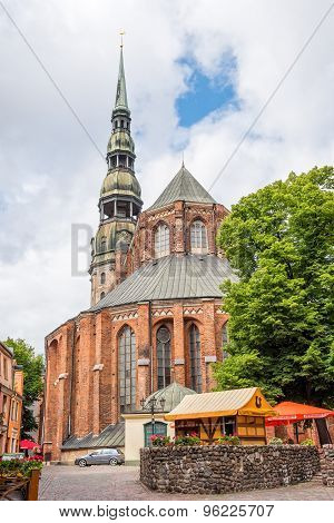 St Peters Church In Riga, Latvia