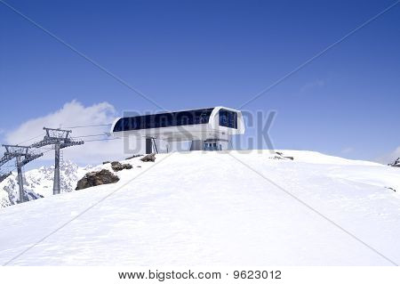 Station Of Ropeway. Ski Resort