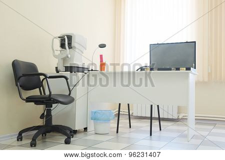 Interior of an ophthalmologic office