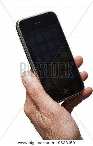 Hand halten smartphone
