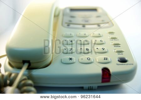 closeup Telephone number pad