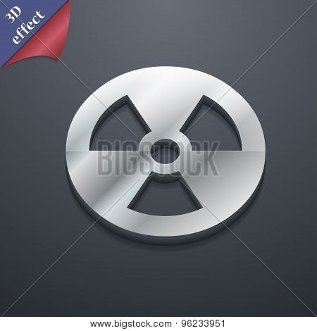 Radiation Icon Symbol. 3D Style. Trendy, Modern Design With Space For Your Text Vector